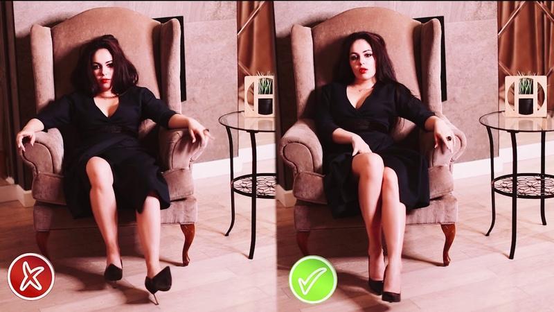 Позы для эротической фотосессии. Позирование в платье и на каблуках