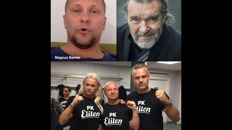 PK Eliten-idioterna:Henrik Schyffert,Malena Ernman,Jonas Gardell,Magnus Betnér och Kjell Bergqvist.