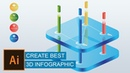 Learn how to create best 3D Infographic creative in Adobe Illustrator | 3d Infographic | ai