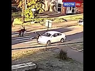 В Петрозаводске автомобиль сбил на