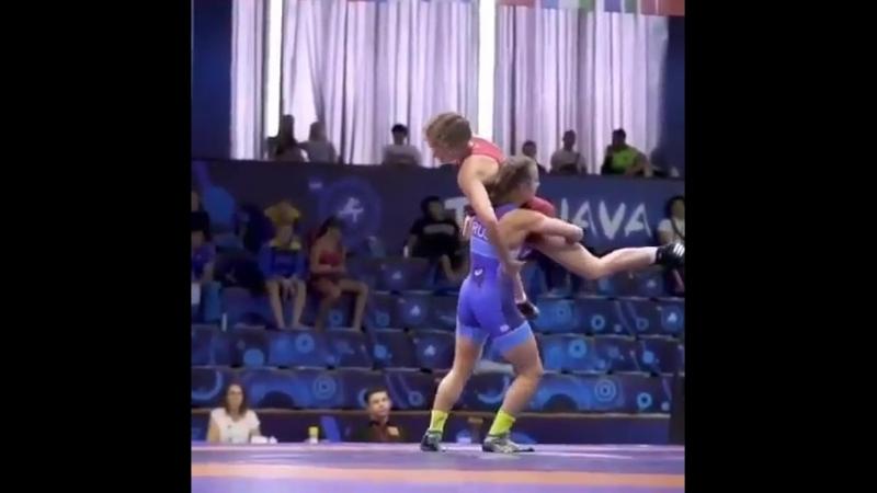 Победитель первенства Европы по борьбе – Екатерина Вербина во всей красе!