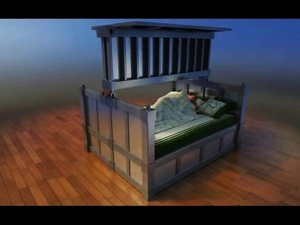 Inventan en China una cama que se blinda en caso de terremoto