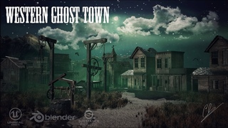Creation of a Western Ghost Town using Blender 2.79 - Unreal Engine 4 - Substance Painter