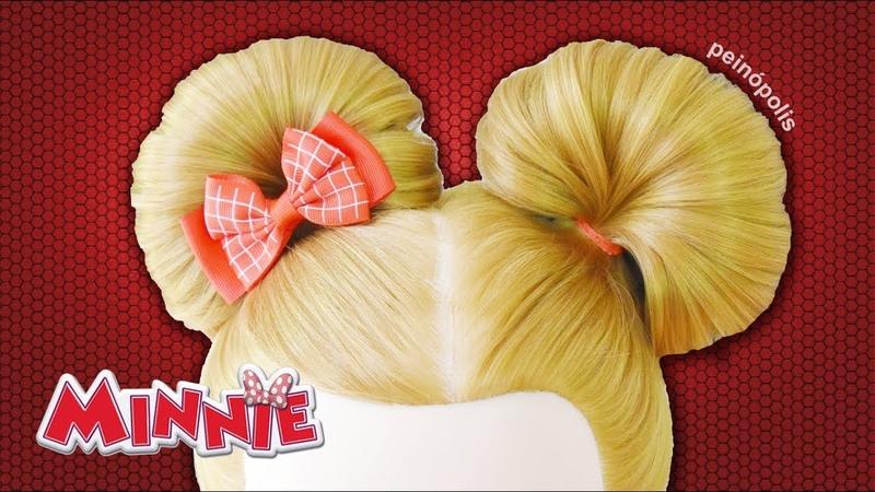 PEINADO de OREJAS DE MINNIE - Peinados Faciles y Rapidos para Niñas