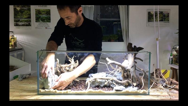 Aquarium aquascaping double face Rhino VS Octopus by Laurent Garcia