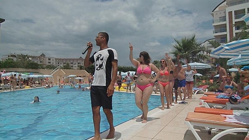 Hedef resort клубный танец у бассейна июнь 2018