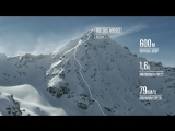 STEEPEST freeride terrain  POV and drone view of Bec de Roses, Verbier