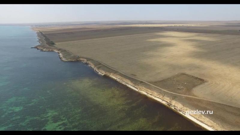 Вид на побережье вблизи с Громово Черноморский район с высоты птичьего полета