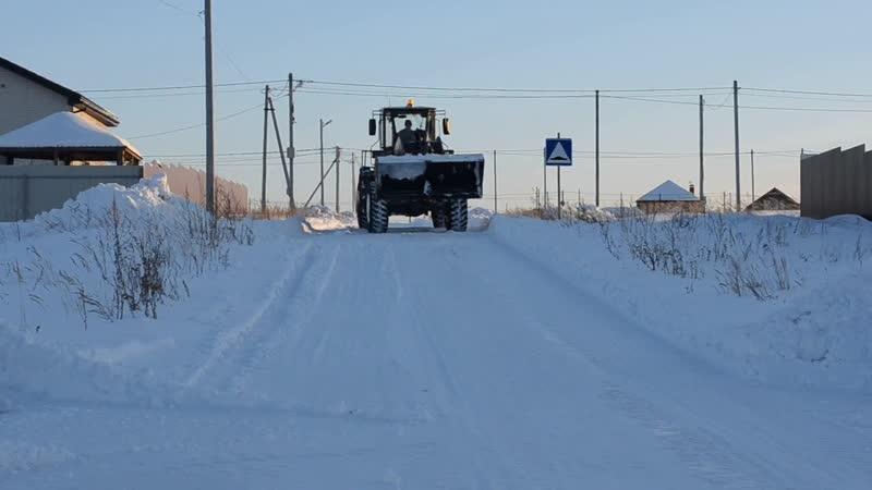 Посёлок Заозёрный - Уборка снега