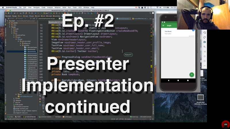 Refactoring an Android App - 2 - Presenter Implementation continued