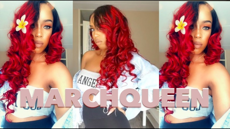 Slaying this Ombre Burgundy Red Brazilian Body Wave | MarchQueen | Nancy Bre Ramos