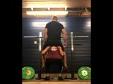 wife deep squats heavier husband like a rag doll
