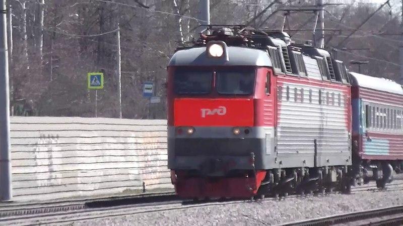 Электровоз ЧС7 с вагоном-дефектоскопом