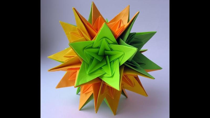 Christmas Kusudama Nordblumen by Irina Krivyakina - Yakomoga Origami tutorial