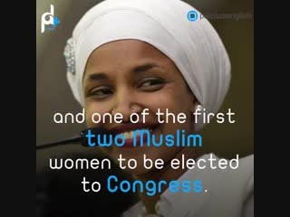 Ilhan Omar, the first US Congress member that supports #BDS.
