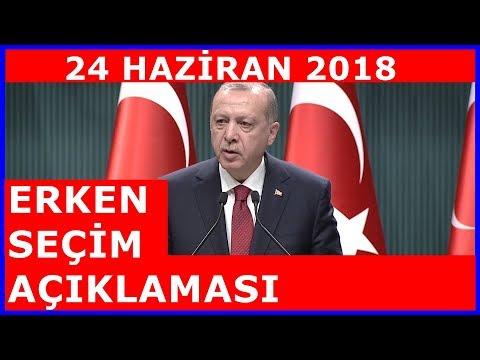 Cumhurbaşkanı Erdoğan'ın Devlet Bahçeli İle Görüşmesi Sonrası ERKEN SEÇİM Açıklamaları 18.4.2018