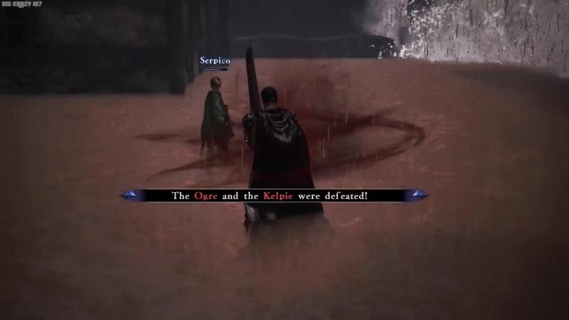 Ogre and Kelpie boss fight (Berserk Musou)