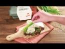 Тортилья с курицей, соленым огурцом и беконом