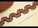 Ленточное кружево ВОЛНА вязание крючком Crochet Lace Braid Ribbon Tape Tutorial