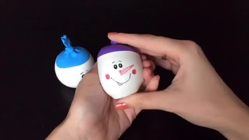 [v-s.mobi]Мастер-класс снеговики из шариков - антистресс.mp4