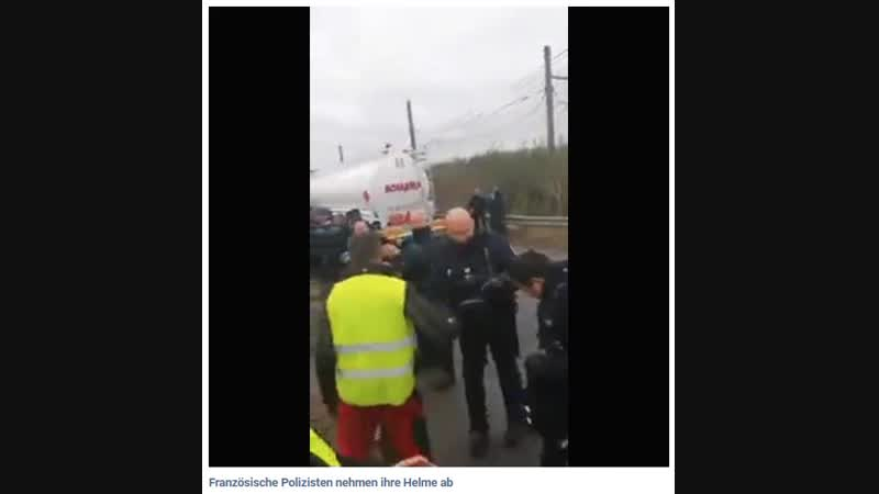 Bullen nehmen Helme ab *** Frankreich