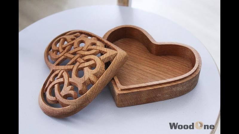 Фрезеровка шкатулки в кельтском стиле /Milling Celtic wooden box