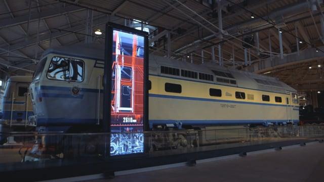 Diesel Locomotive Virtual Cutaway