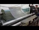Вальцы трехвалковые RME-2000х6mm. Видео работы станка.