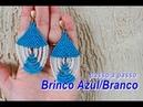 NM Bijoux - Brinco Azul/Branco de miçangas - passo a passo