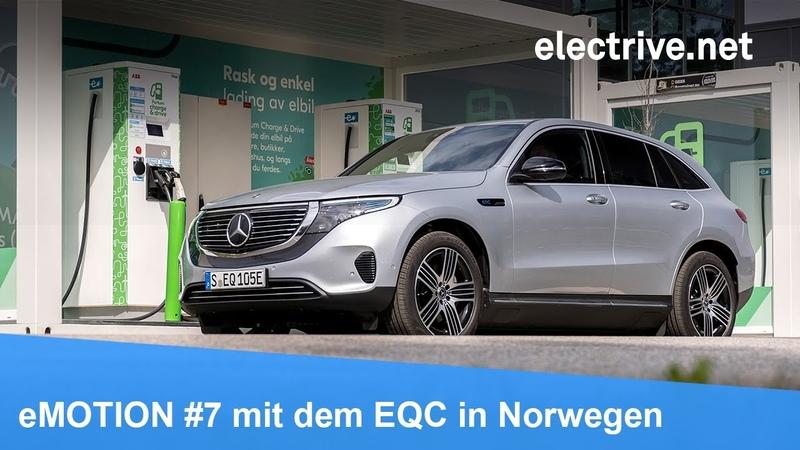 EMOTION 7 mit dem Mercedes Benz EQC in Norwegen Fahrbericht Elektro Feeling Interviews