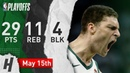 Brook Lopez Full Game 1 Highlights Bucks vs Raptors 2019 NBA Playoffs - 29 Pts, 11 Reb, 4 Blk!