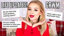CHATTY CHRISTMAS GLAM GRWM ANSWERING YOUR QUESTIONS sophdoesnails