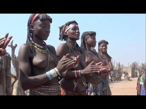 Angola tribal peoples life in small town