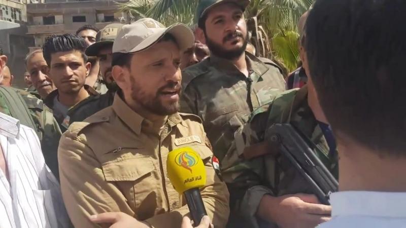 Заместитель командующего Лива Аль-Кудс, полковник Аднан Ас-Сайед в интервью корреспонденту телевидения Аль-Алам