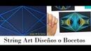 String art diseño o boceto dimensión geométrica por jorge de la tierra