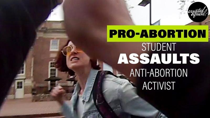 Shock: Pro-Abortion Activist Assaults Peaceful Pro-Lifer (Warning: Offensive Language)