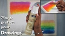 How to use Fixative reduce dusting from Drawings