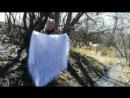 Ажурная шаль из натурального белого козьего пуха