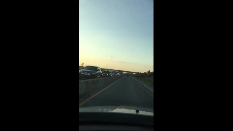 Пробка из за ремонта дороги
