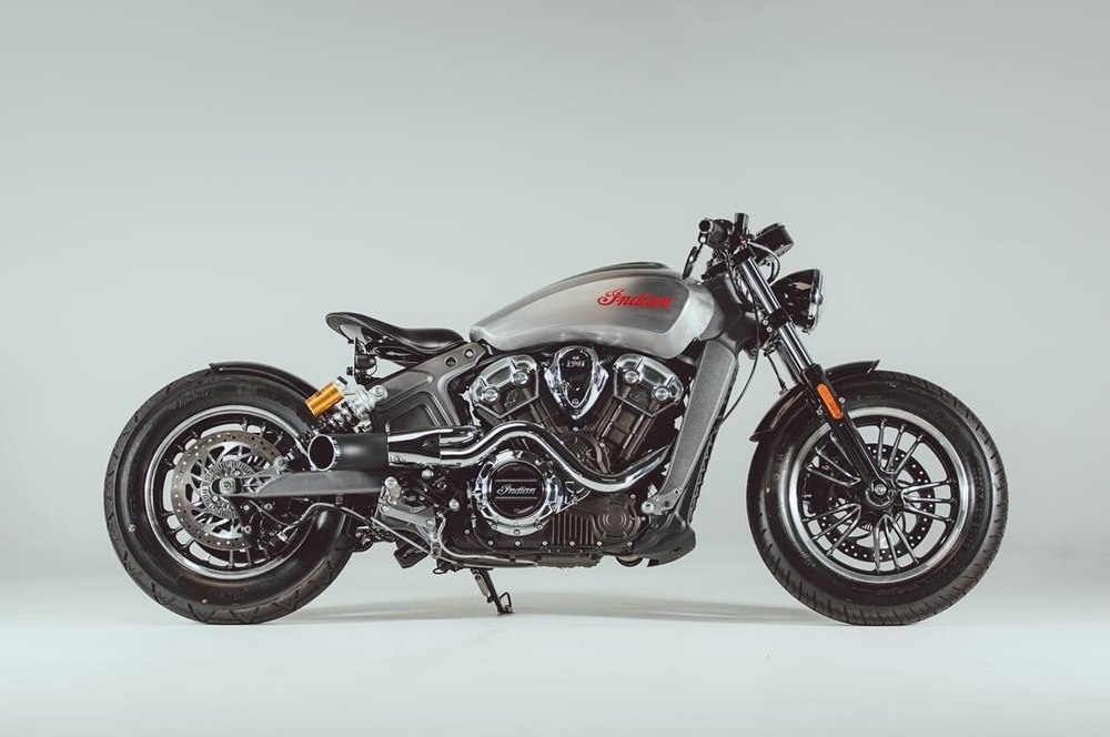 Rogue Motorcycles: кастом Indian Scout Bobber