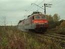 Песчаная буря ВЛ11.8-799/801 Б с грузовым поездом устраивает песчаную бурю