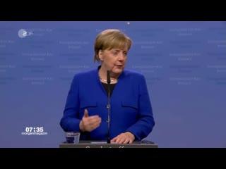 Merkel total besoffen