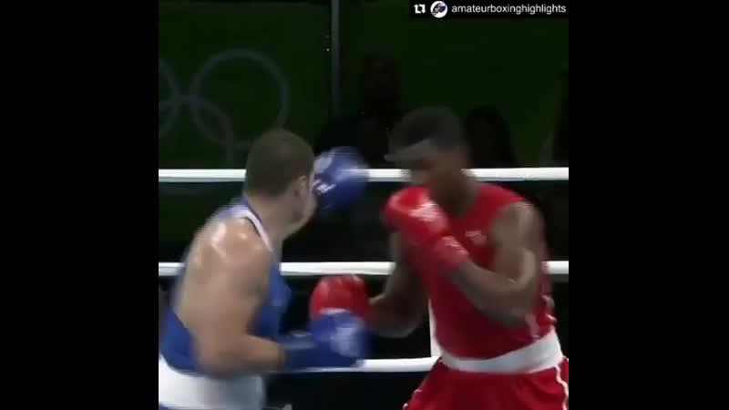 🎬Когда кубинский боксер решил показать Флойда мейвезера на Олимпиаде 2016 в супертяжелом весе🥊