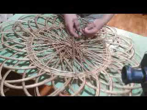 Уникальный способ плетения панно (заканчиваем).Как сплести панно.