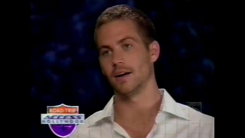 Paul Walker on Access Hollywood 2003
