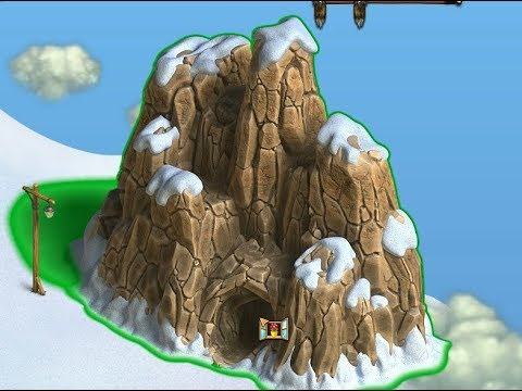 Водопад в игре Клондайк