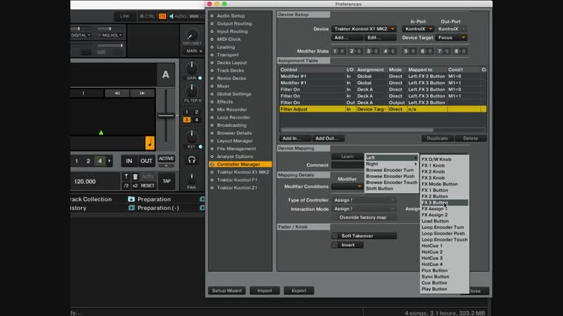 Traktor Kontrol X1 – How to add Filter mapping