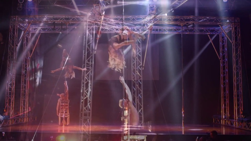 Maddie Sparkle and Timber Brown Pole Show LA at Pole Expo...