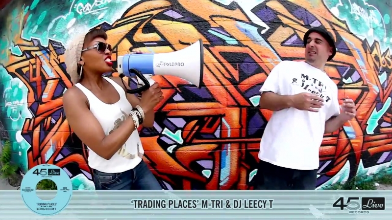 M-TRI DJ LEECY T Trading Places (45 Live Records)