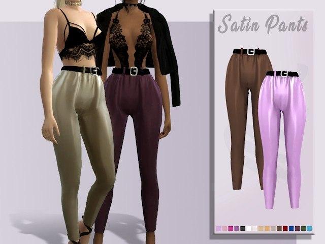 Satin Pants by BlueRose